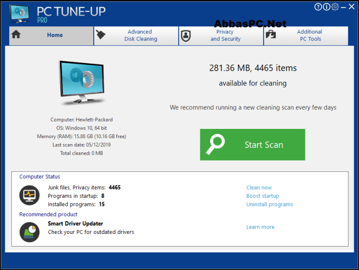 Large Software PC Tune-Up Pro License Key