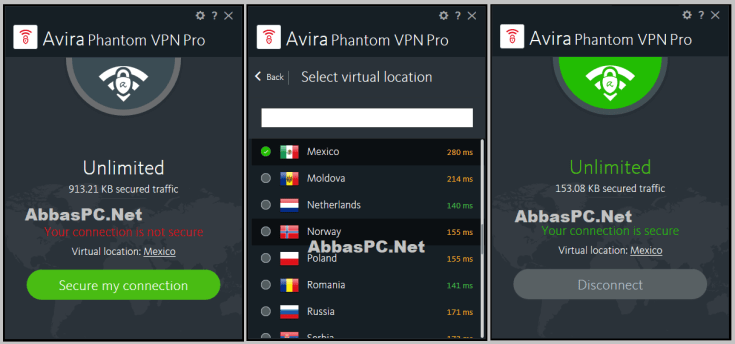 Avira Phantom VPN Pro License Key Download PC