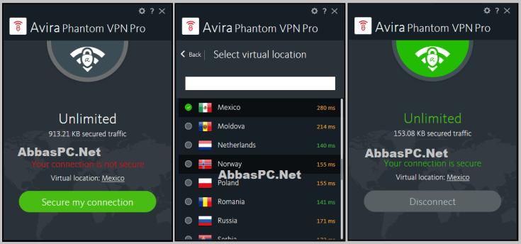 Avira Phantom VPN Pro License Key Download PC