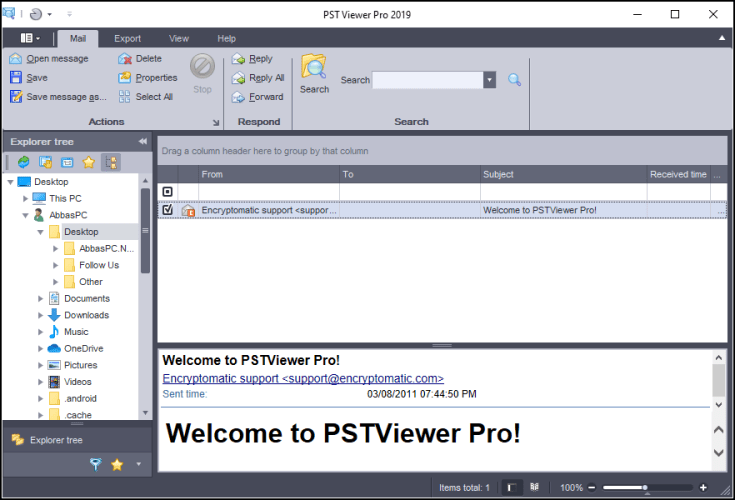 Encryptomatic PstViewer Pro Registration Code