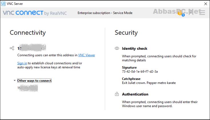 VNC Connect Enterprise License Key