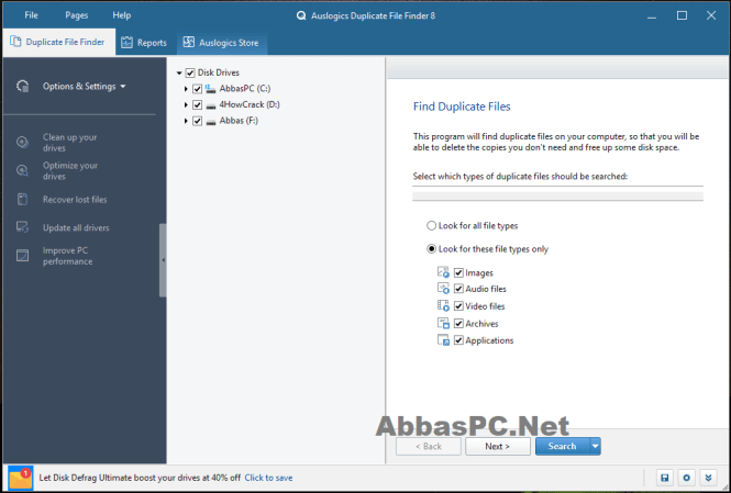 Auslogics Duplicate File Finder Free for Windows