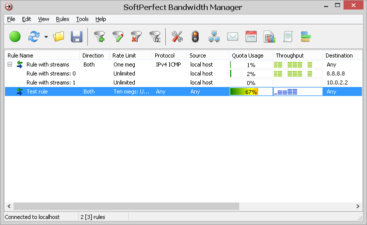 SoftPerfect Bandwidth Manager for Windows