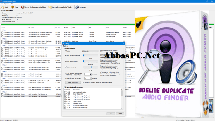 3delite Duplicate MP4 Video and Audio Finder Free Download