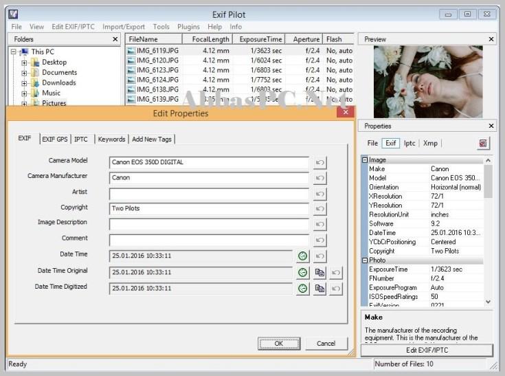 Exif Pilot License Key Free Download