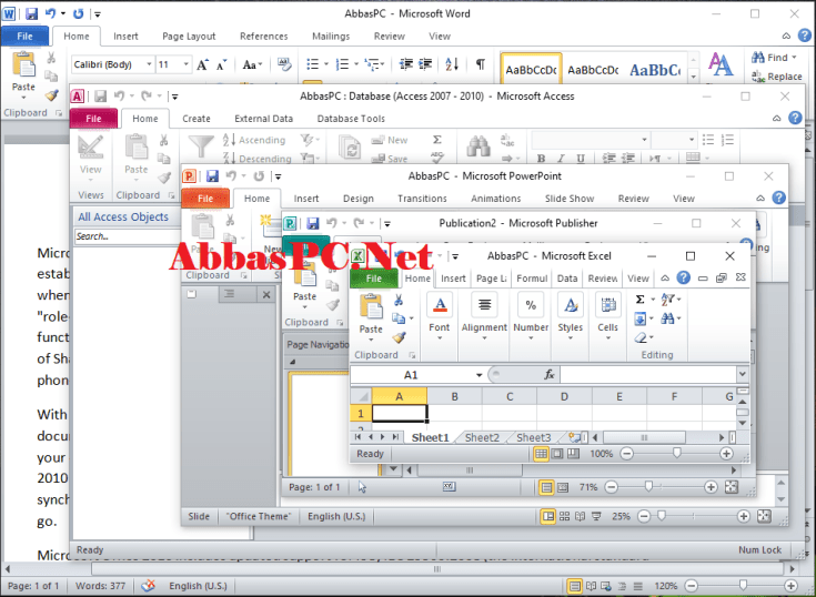 Microsoft Office 2010 Professional Plus Free Download for Windows