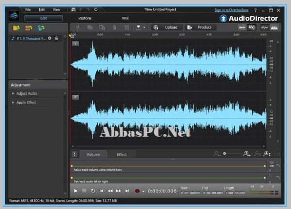 CyberLink AudioDirector Ultra 11 Full Version Crack