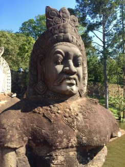 The best expression on a statue anywhere in the world, Angkor Wat, Siem Reap