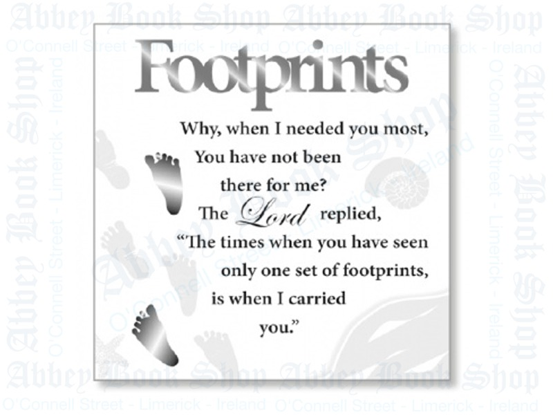 Block Art Wood Plaque – Footprints