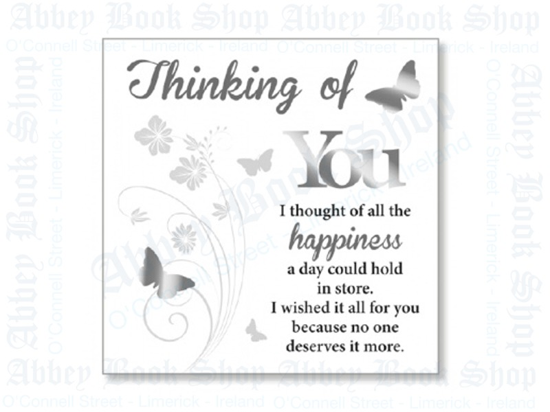 Block Art Wood Plaque – Thinking of You