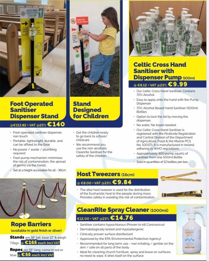 Abbey Bookshop Limerick - Corona Virus Safety Products