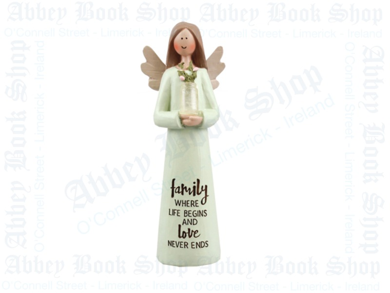 Message Angel – Family Blessing (5″ Resin)