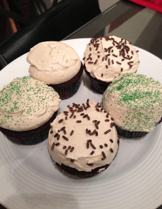 Irish car bomb cupcakes baileys guinness