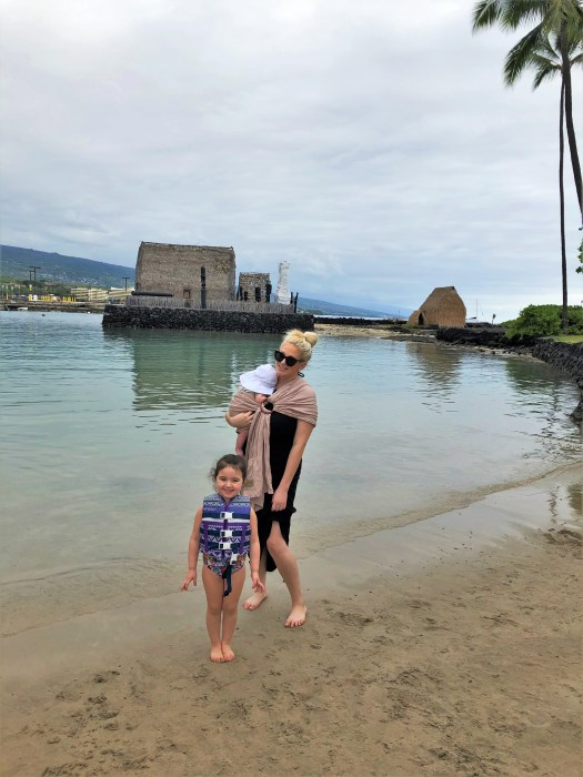 Kamakahonu Beach with Baby 3