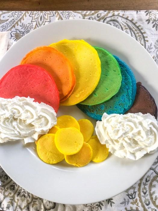 St Patricks Day Rainbow Pancakes 1