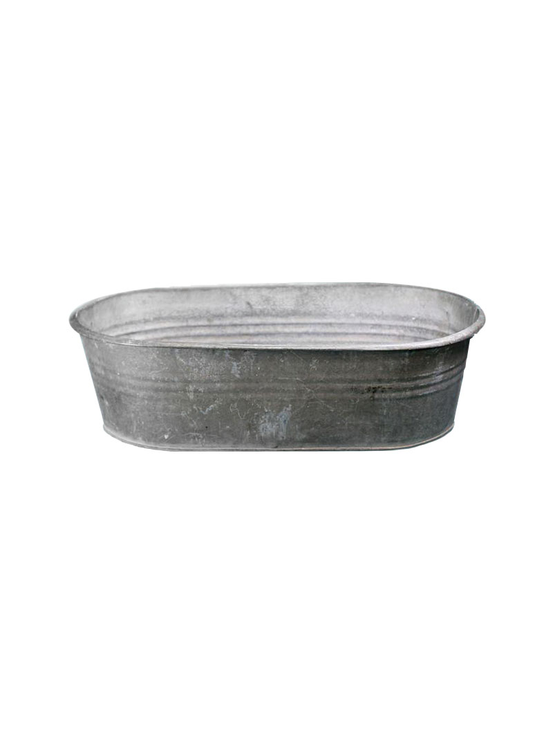 Vintage Oblong Galvanized Ice Tub Vintage