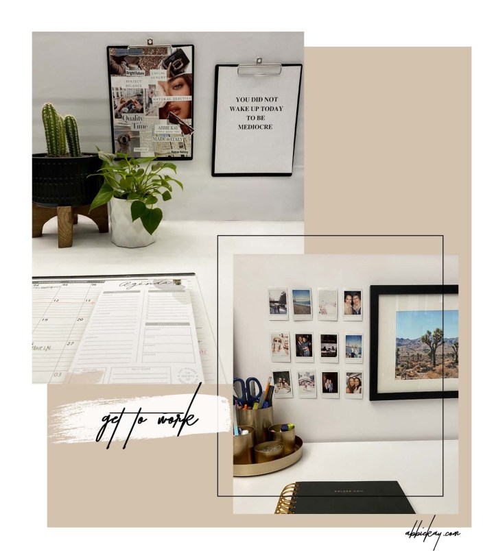 HOW TO PERSONALIZE YOUR WORK SPACE