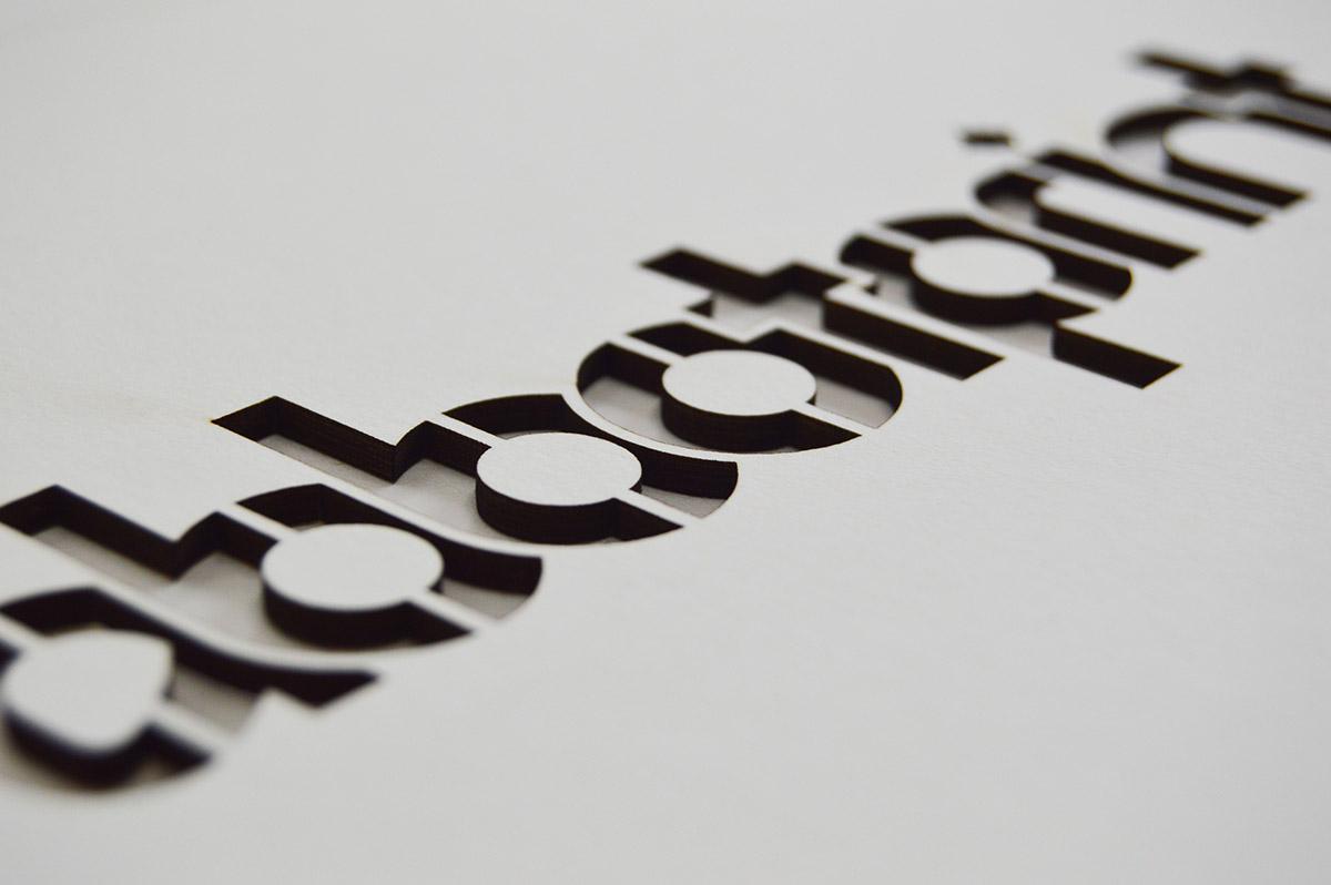 Abbot Print Logo Laser Cut Black & White