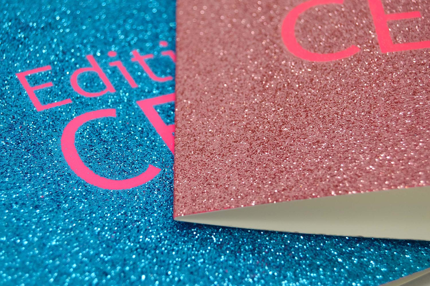 intense glitter French greetings card