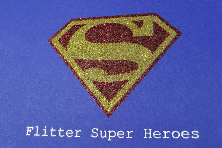 glitter superman logo