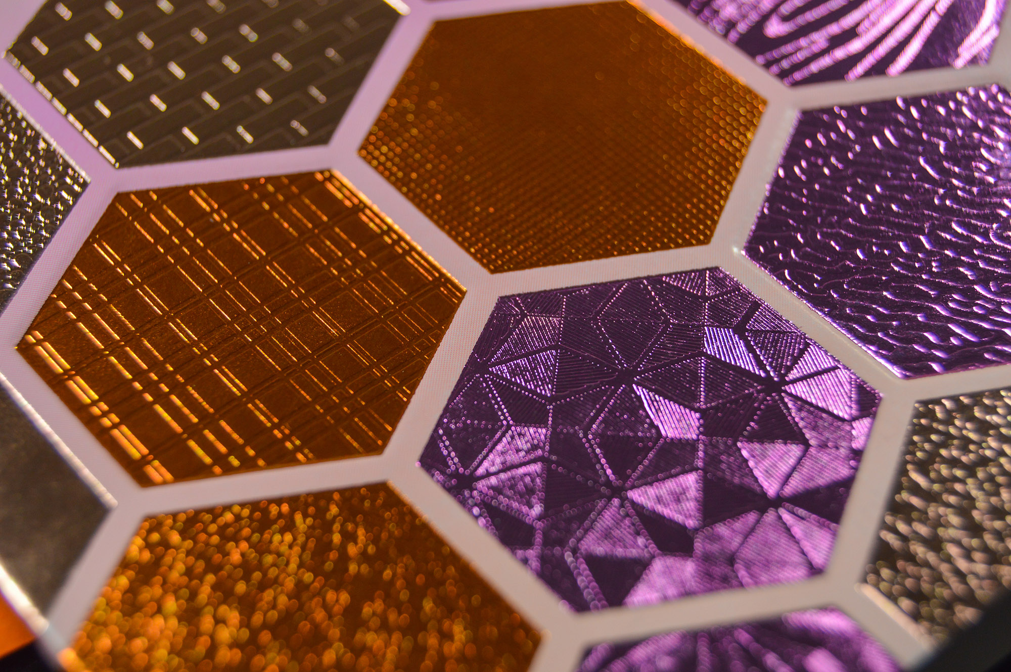 textured foil close up