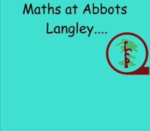 Abbots Langley School Maths Sessions for Parents - Nursery, Reception and KS1_1