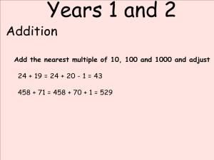 Abbots Langley School Maths Sessions for Parents - Nursery, Reception and KS1_8