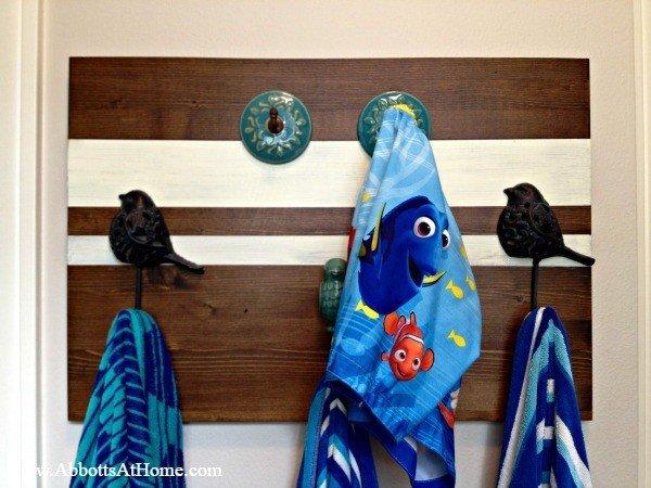 Easy DIY Towel or Coat Rack