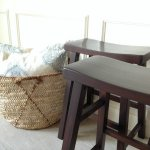 Counter stools after gel stain makeover