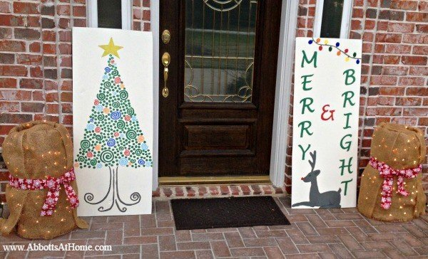 DIY Reversible Thanksgiving and Christmas Signs
