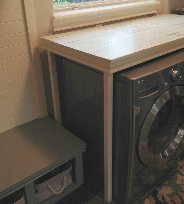 Hide That Washer Dryer With This DIY Laundry Table. Itu0027s Farmhouse Style  Dresses Up The