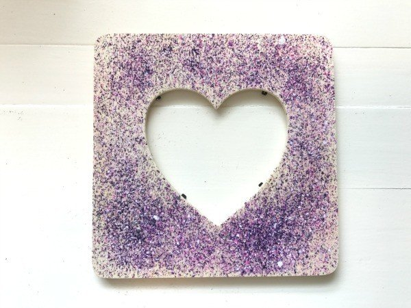Kids Valentines Art Wood Crafts - crayon melting