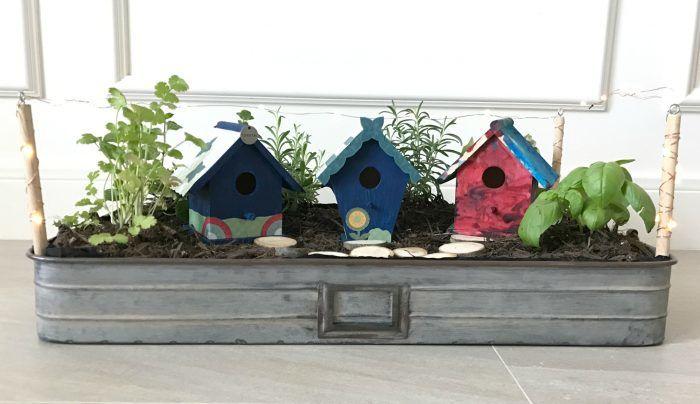 DIY Fairy Garden with Mini Lights