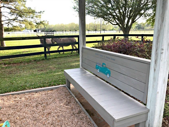 DIY Kids Gravel Play Area And Rustic Bench