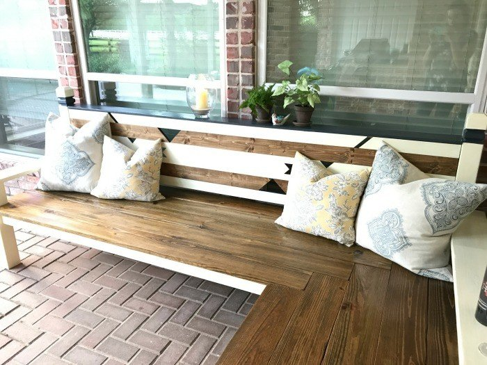 How I Built My L Shaped DIY Backyard Bench For $130, Awarded 2nd Place