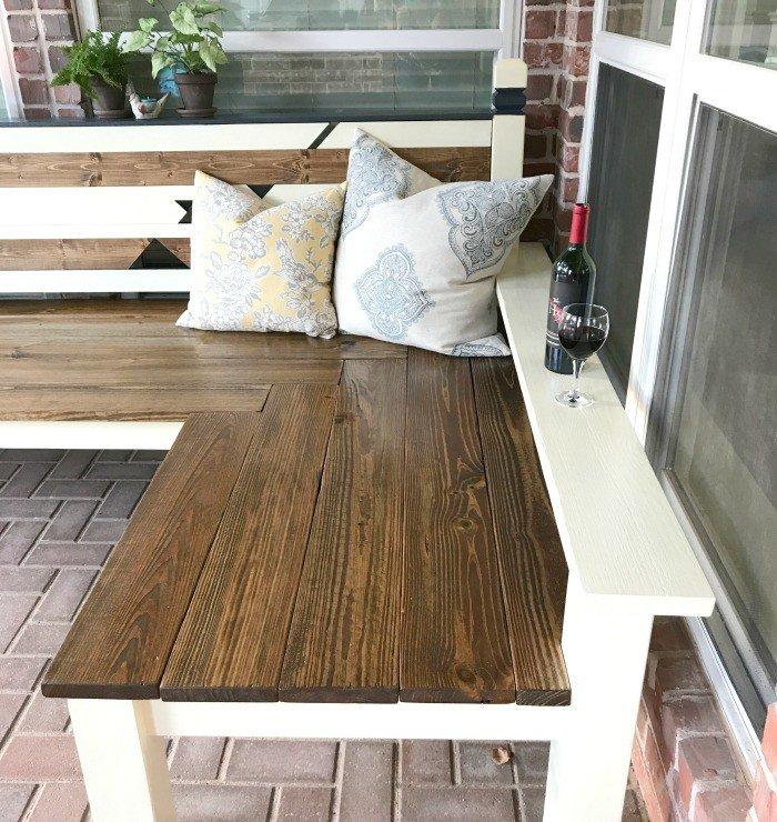 L-Shaped DIY Backyard Bench, just $130