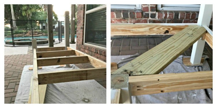 How I built my L-shaped DIY Backyard Bench for $130, awarded 2nd place in the IG Builders Challenge, season 3. These DIY Backyard Bench Plans are pretty simple. They just take time. You can easily adjust these DIY wood bench plans to the right size for your space.