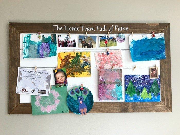 DIY Display Board – Show off Family Memories