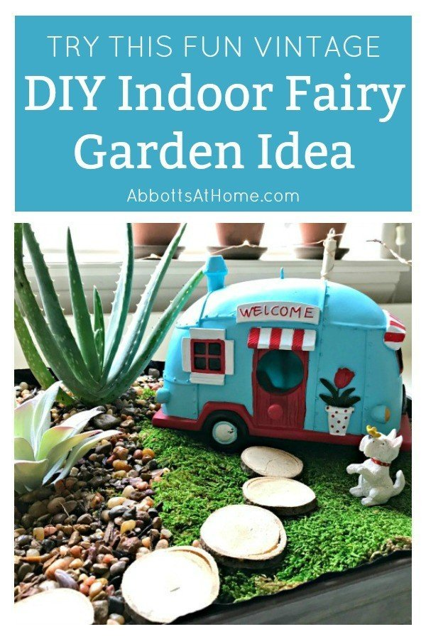 Fun Vintage Diy Indoor Fairy Garden Idea Abbotts At Home