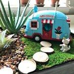 How adorable is this Fun Vintage DIY Indoor Fairy Garden Idea! In under an hour, you can add cute fairy garden details to your favorite indoor plants. #AbbottsAtHome #FairyGarden #IndoorPlants #VintageDecor #HomeDecorIdeas