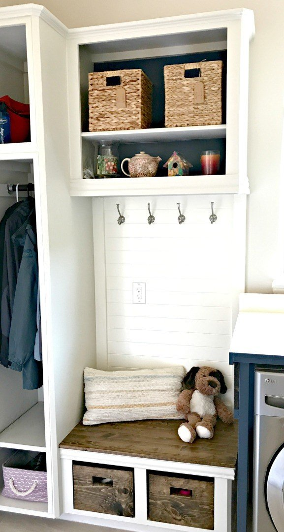 Upcycle Your Old Cabinets Into A Beautiful And Affordable DIY Laundry And  Mudroom Combo. This