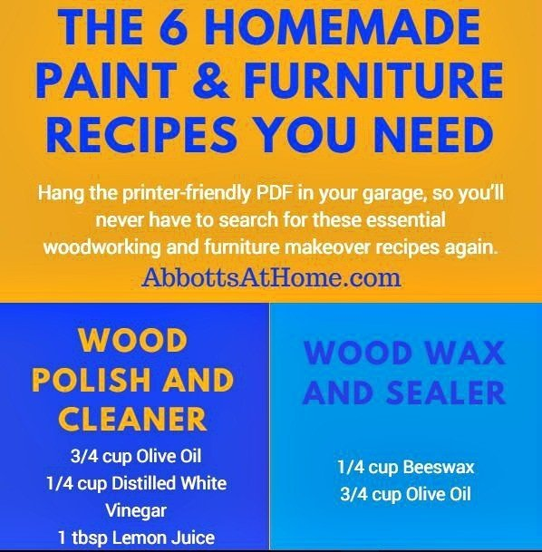 Essential Homemade Wood Finishing Recipes - Abbotts At Home