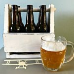 DIY Beer Caddy Plans for this cool vintage style beer caddy. I have videos to help with the assembly and paint job too. No need to look any further for wooden beer caddy plans.