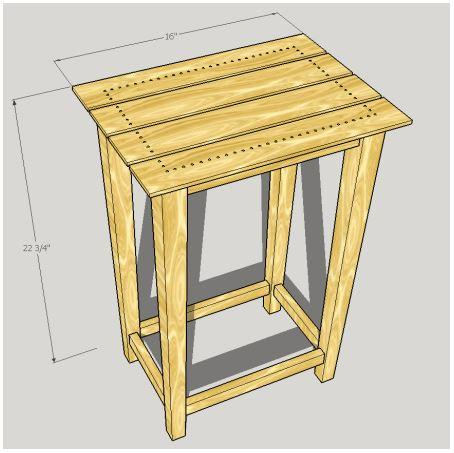 Simple and Pretty Side Table Plans. Get these easy to follow build plans for this side table for bedside or living room.