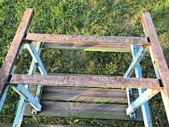 DIY Steps For Rusty Metal Table Repair. Works On Most Outdoor Metal  Furniture Too.