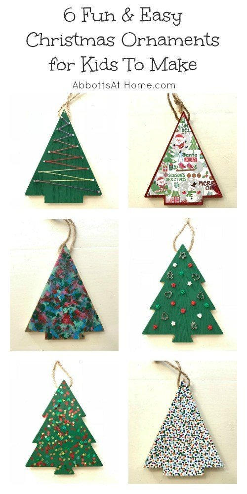 6 fun easy christmas ornaments for kids to make for Easy christmas decorations to make at home