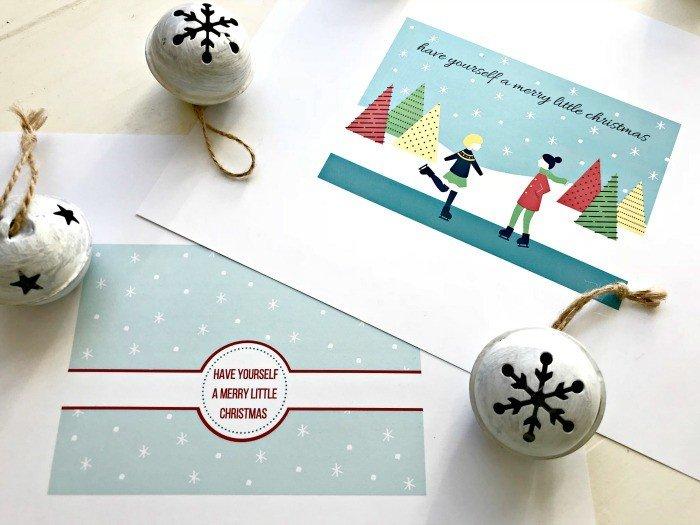 Grab 2 Fun & Free Christmas Card Printables Today