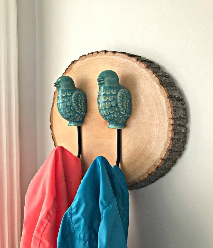 How to Make an Easy DIY Wood Slice Wall Hook
