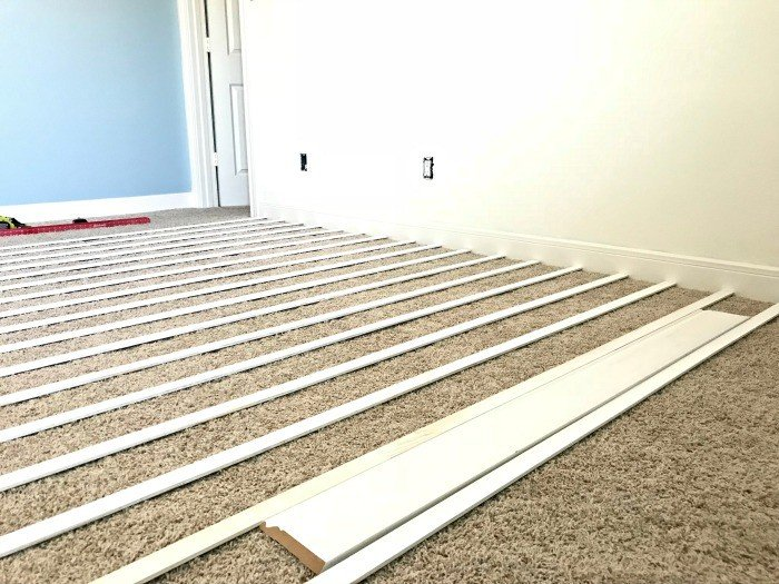 White DIY Board and Batten Wainscoting with lattice