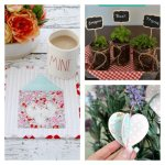 This weeks features include a Quilt Mug Rug Tutorial, a DIY Mason Jar Herb Garden, and a DIY Valentine Heart Banner.